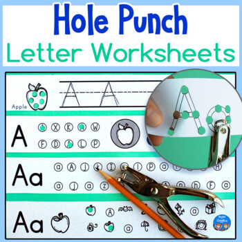 Letter Hole Puncher.Hole Punch Alphabet Letter Worksheets