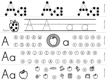 Hole Punch Alphabet Letter Worksheets