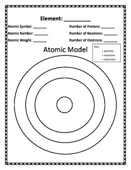Hole Punch Atom Models