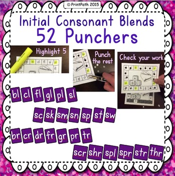 Hole Punch - Initial Consonant Blends