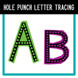 Hole Punch Letter Tracing