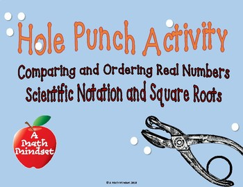 Hole Punch-Ordering Real Numbers, RC 1 TEKS  8.2a, 8.2b, 8.2c, 8.2d