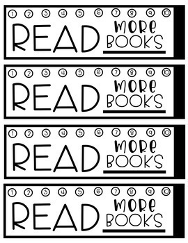 Hole Punch Reading Incentive Bookmarks