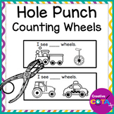 Hole Punch Transportation Number Counting Activity