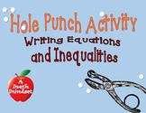 Hole Punch-Writing equations and inequalities with variables on both side