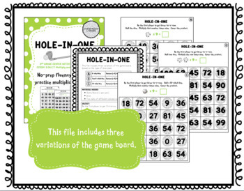 Hole-in-One: A Multiplication Fact Game for Fluency with 9s
