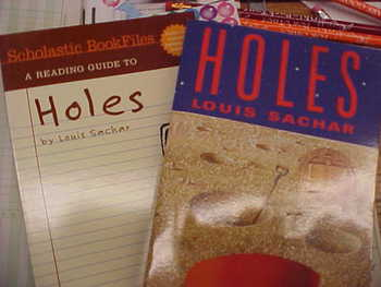 """Holes"", 1 copy of the Book and 1 copy of the Reading Guide"