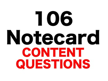 Holes 106 Content Questions Whiteboard Game