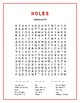 Holes: 2 Character Word Searches w/Hidden Messages