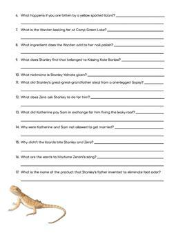 Holes (2003) Movie Guide Questions/Worksheet