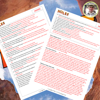 Holes (2003) - Movie Guide Questions + Summary writing