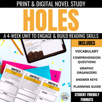 Holes Foldable Novel Study Unit