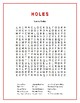 Holes: 3 Categorized Word Searches from the Novel! Great Downtime Activities!