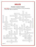 Holes: 50-Word Prereading Crossword—Great Warm-Up for the Book!