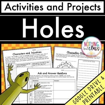 Holes: Reading Response Activities and Projects