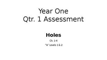 Holes Assessment Chapters 1-4 Attainment