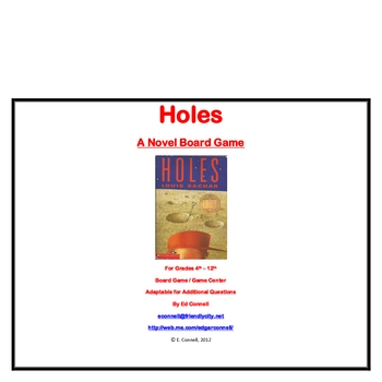 Holes Board Game