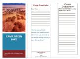 Holes Book Report (Setting)- Camp Green Lake Brochure
