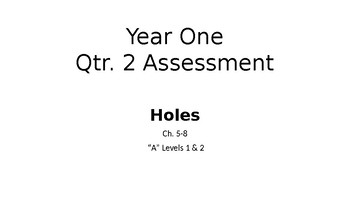 Holes Assessment Chapters 5-8 Attainment