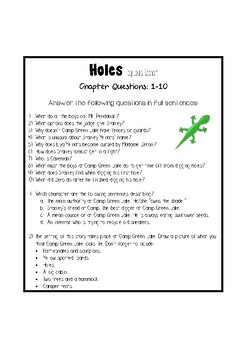 Holes - Chapter Questions