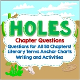 Holes, Chapter Questions, Literary Analysis, Activities, Crafts