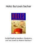 Holes Chapter Questions and Activity Sheets
