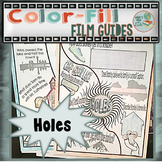 Holes Color-Fill Film Guide Doodle Notes