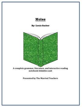 Holes Complete Literature, Grammar, & Interactive Foldables Unit