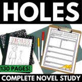 Holes Novel Study Literature Guide Unit