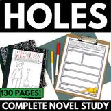 Holes Novel Study Literature Guide Unit | Comprehension Qu