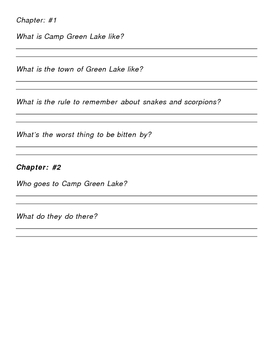 Holes Comprehension Packet