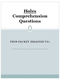 Holes Comprehension Questions and Answer Key