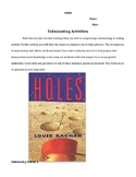Holes Culminating Activity Projects