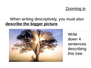 Holes - Descriptive Writing