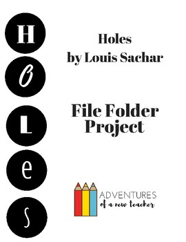 Holes by Louis Sachar File Folder Project