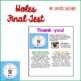 Holes Final Test- Louis Sacher