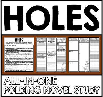 Holes - Folding Novel Study Unit