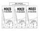 Holes Interactive Bookmark Activity