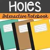 Holes Interactive Notebook Novel Unit Study Activities, Book Report Project