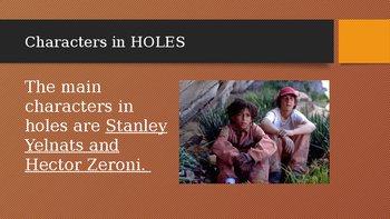 Holes Introdution PowerPoint