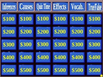 Holes Jeopardy