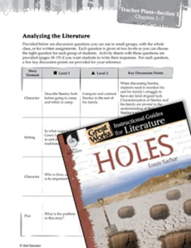 Holes Leveled Comprehension Questions