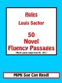 Holes (Louis Sachar) 50 Novel Fluency Passages