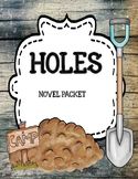 Holes by Louis Sachar - Novel Study Unit Comprehension and Vocabulary