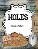 Holes by Louis Sachar  Novel Unit Mega Bundle Print and Paperless