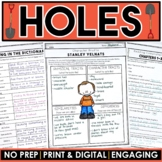Holes Novel Study Distance Learning