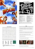 Holes Movie Bundle - Worksheets, Activities, Fun Stuff