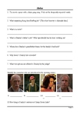 Holes Movie Viewing Questions