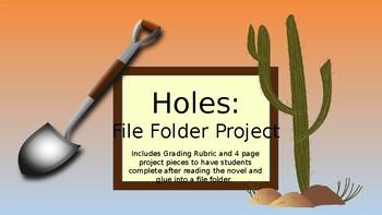 Holes Novel File Folder Project