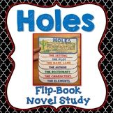 Holes, Novel Study, Flip Book Project, Writing Prompts, Vo